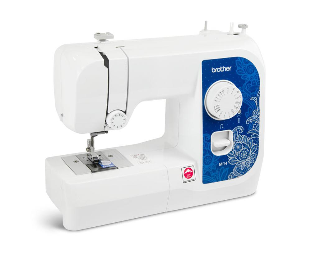 Швейные машины Brother M 14  Brother M14– швейная машина начального уровня, оснащенная горизонтальным челночным устройством и набором операций, необходимых для основных швейных работ. Все операции доступны для быстрого выбора на лицевой панели ИП Евдокимов И.А.