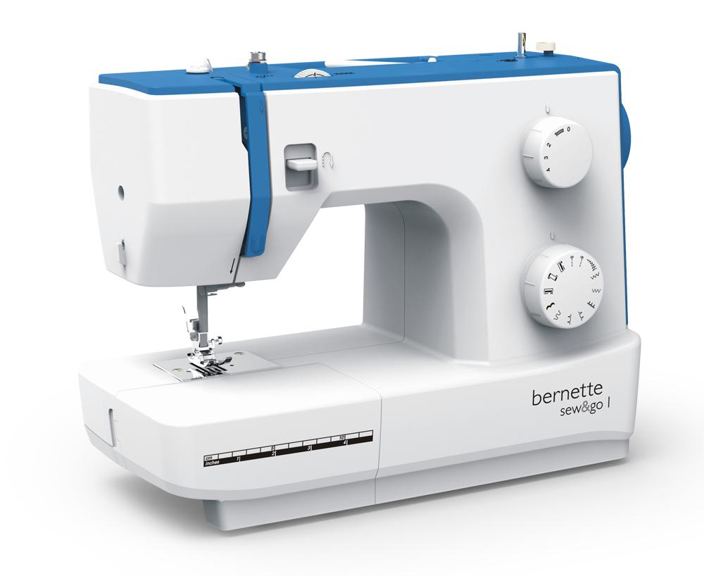Швейные машины Bernina Sew&Go 1  Модель Bernette Sew&Go 1 - это механическая швейная машина из серии Sew&Go, созданная для начинающих. Она предлагает основные возможности, включая 10 видов строчек при максимальной ширине 5 мм, по доступной цене. М ИП Евдокимов И.А.