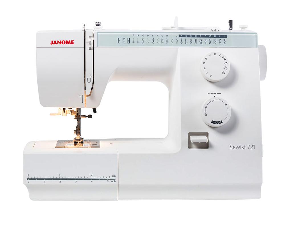 Швейные машины Janome Sewist 721  Janome Sewist 721- это простая в использовании, электромеханическая швейная машина. В функционале этой машины - 19 швейных операций среди которых есть как рабочие строчки так и строчки для обработки края, а также ви ИП Евдокимов И.А.