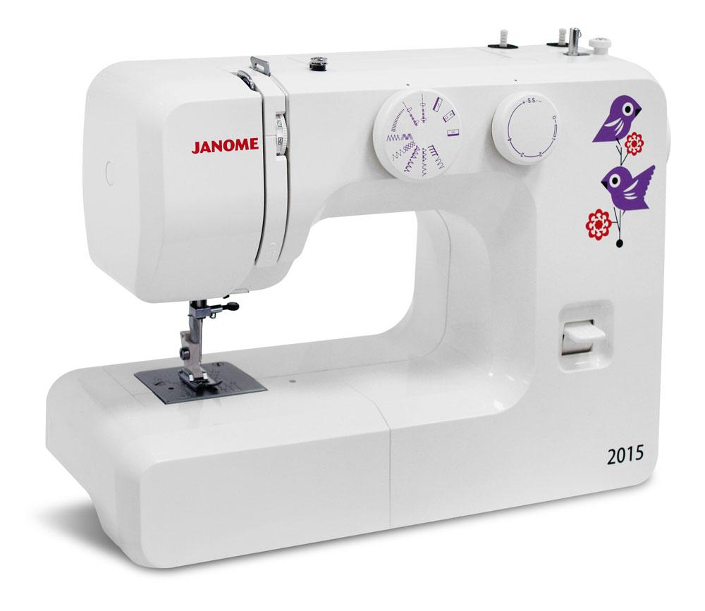 Швейные машины Janome 2015  Швейная машина Janome 2015 -простая в использовании электромеханическая швейная машина, идеально подходит для начинающих любителей шитья и более опытных. Тяжелая, железная, все, как вы любите, прекрасно справляется с любы ИП Евдокимов И.А.
