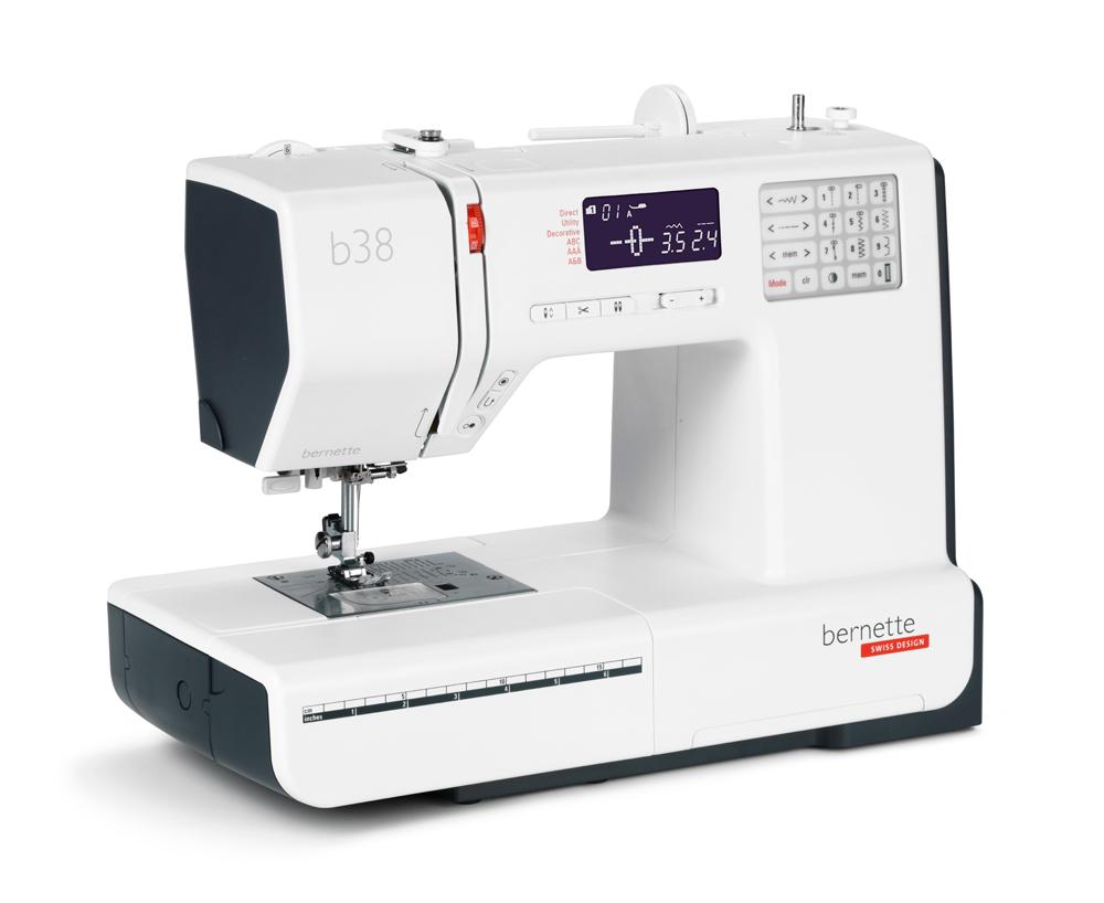 Швейные машины Bernina Bernette b 38  Bernette B38 - швейная машина с электронным типом управления. Данная модель сможет работать с тканями различной плотности, и может быть использована как в мелком ремонте так и в шитье изделий. Набор из 394 швейных опе ИП Евдокимов И.А.