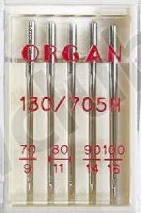 Иглы Organ  Пять игл универсальных в сборе: №70, №80 (2шт), №90, №100 Мир Шитья магазин швейной техники и аксессуаров