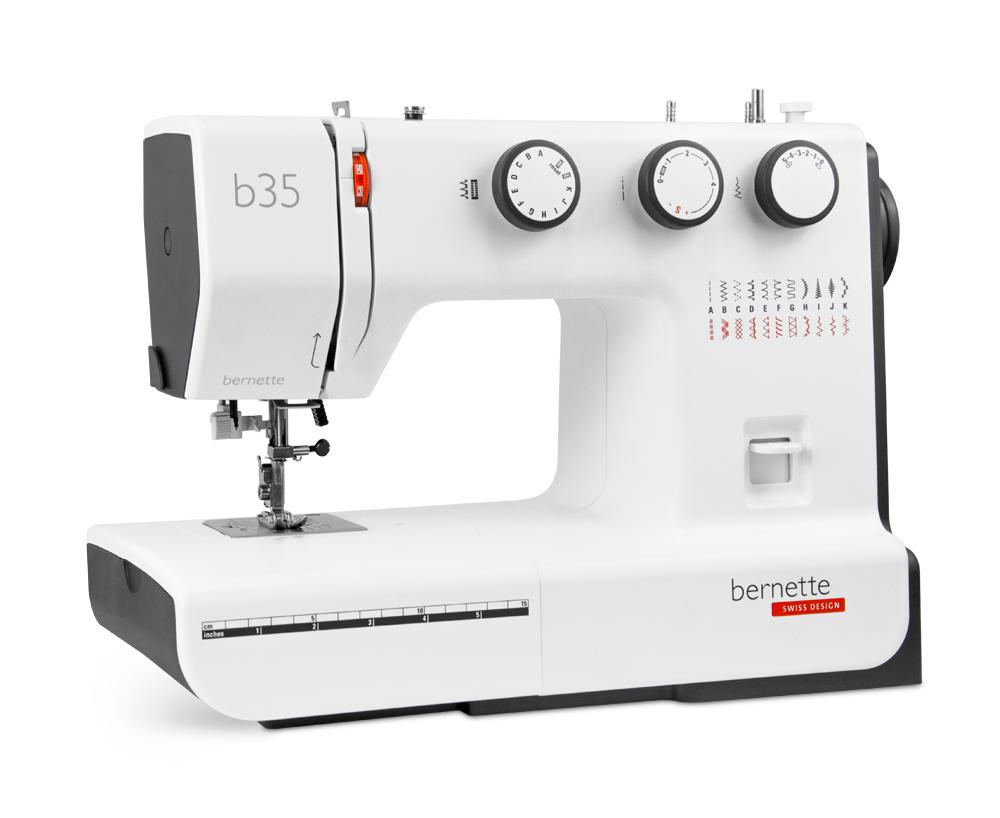 Швейные машины Bernina Bernette b35  Швейная машина Bernette b35 — функциональная и в то же время простая модель, оснащенная вертикальным качающемся челноком и набором из 23-и швейных операций. В функионал модели входит: автоматическая петля, трикотажные ИП Евдокимов И.А.