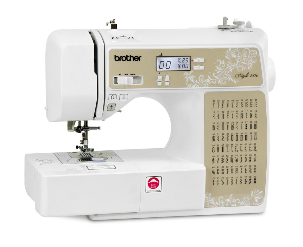 Швейные машины Brother Style 80e  Компьютеризованная швейная машина Brother Style 80e позволяет работать с тканями различной толщины и фактуры (от тончайшего шелка до джинсовой ткани). Широкий выбор строчек, несколько видов петель и автоматическая заправк ИП Евдокимов И.А.