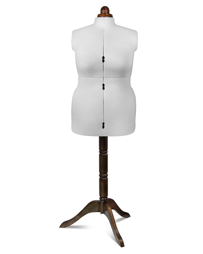 Манекены Adjustoform Lady Valet (F)  Lady Valet(F) white - раздвижной, портновский, манекен для женской фигуры на декоративном деревянном штативе. Размеры: 50-60. Благодаря раздвижному механизму портновские манекены для шитья соответствуют объёмам н ИП Евдокимов И.А.
