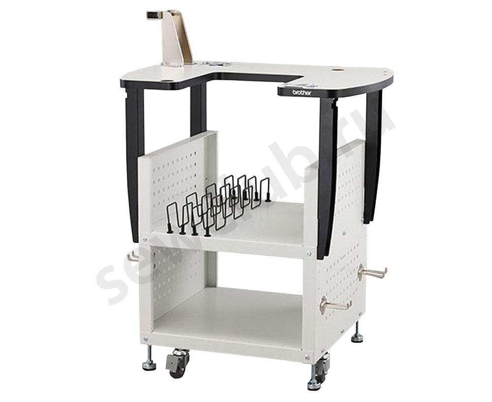Столы Brother  Этот передвижной стол надежно удерживает вышивальную машину серии PR и обеспечивает место и удобство хранения аксессуаров. Для всех моделей серии PR. ИП Евдокимов И.А.
