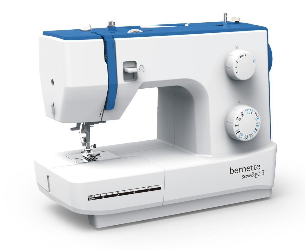 Швейные машины Bernina Sew&Go 3  Модель Bernette Sew&Go 3 - средняя из трех механических моделей из серии Sew&Go. В набор операций входят 19 строчек с максимальной шириной 5 мм, включая обработку петель. Настройки натяжения нити и длину стежка, а ИП Евдокимов И.А.