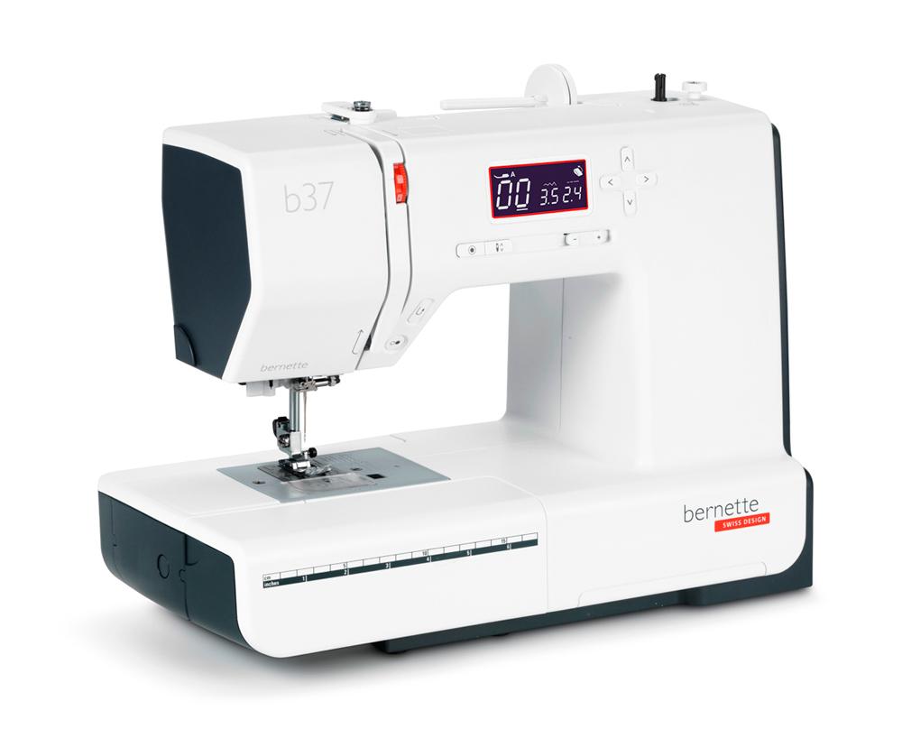 Швейные машины Bernina Bernette b 37  Bernette B37 - электронная швейная машина для дома. Данная модель сможет работать с тканями различной плотности, в мелком ремонте и в шитье изделий. Набор из 50 швейных операций включает: рабочии, трикотажные, краеобм ИП Евдокимов И.А.