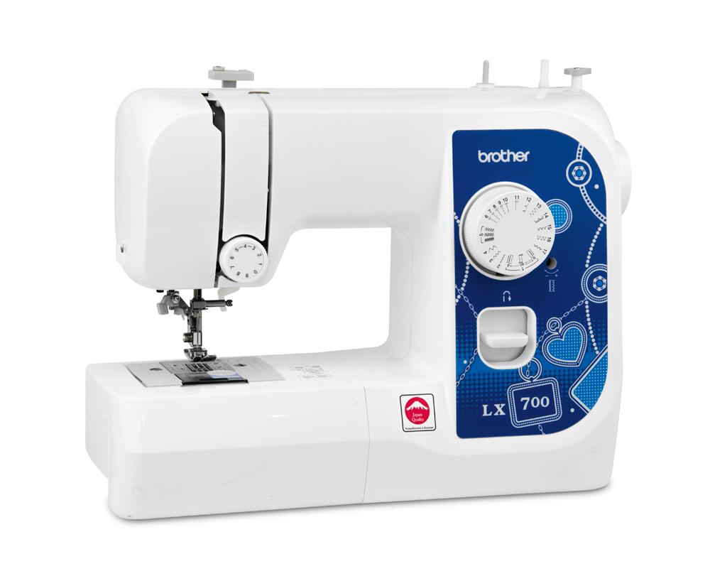 Швейные машины Brother LX 700  Простая в использовании, легкая и портативная швейная машина Brother LX700 – отличная помощница для начинающих. 17 швейных функций позволят вам выполнять основные швейные операции. Горизонтальный челнок Brother гарантирует к ИП Евдокимов И.А.